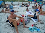 Adam Morel & Mike Chambers kicking back at Jax Beach