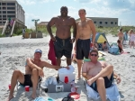 c/o 83 - Adam Morel, Mike Scantling, Dean Tilman & Mike Chambers at Jax Beach, Saturday